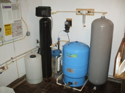 Home Chlorinator with Contact Tank and Carbon Backwash Filter
