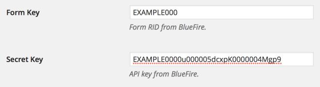 Form Key Screenshot