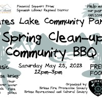Event: Gates Lake Park Spring Clean Up and Community BBQ, May 25