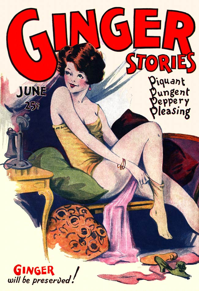 Ginger Stories -1926 - Old Vintage sexy magazine