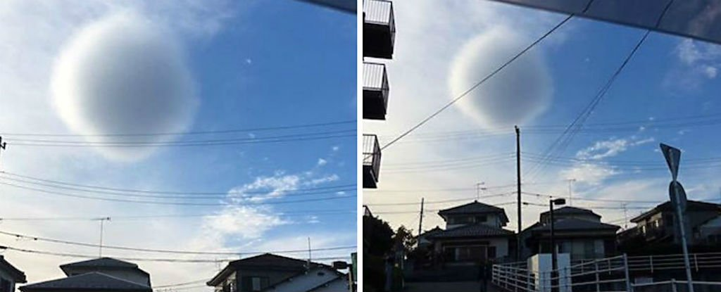 Estranha nuvem em formato esférico aparece no Japão