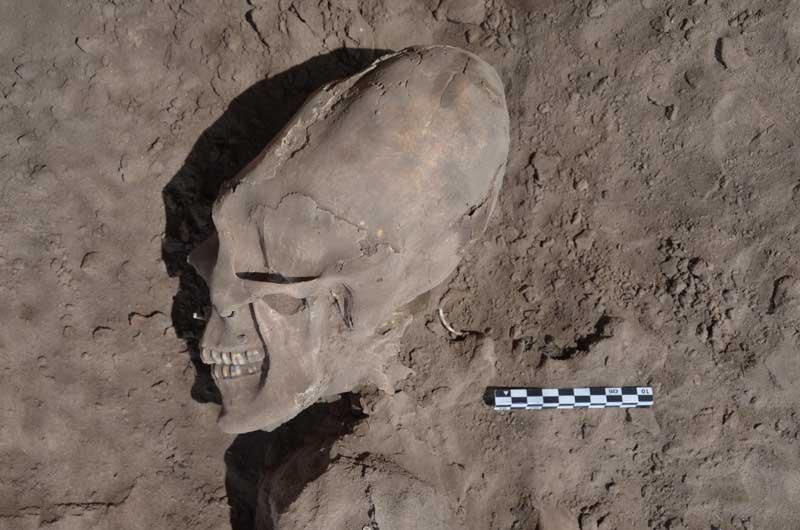 Caveiras parecidas com alienígenas são escavadas no méxico