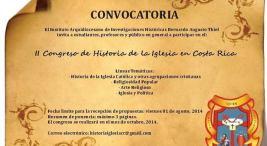 Organizan II Congreso de Historia de la Iglesia en Costa Rica