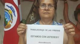 Más personas se suman a la solidaridad con la #HuelgaPiñera, en este caso la diputada Ligia Fallas se pronunció en solidaridad con el movimiento de huelga.