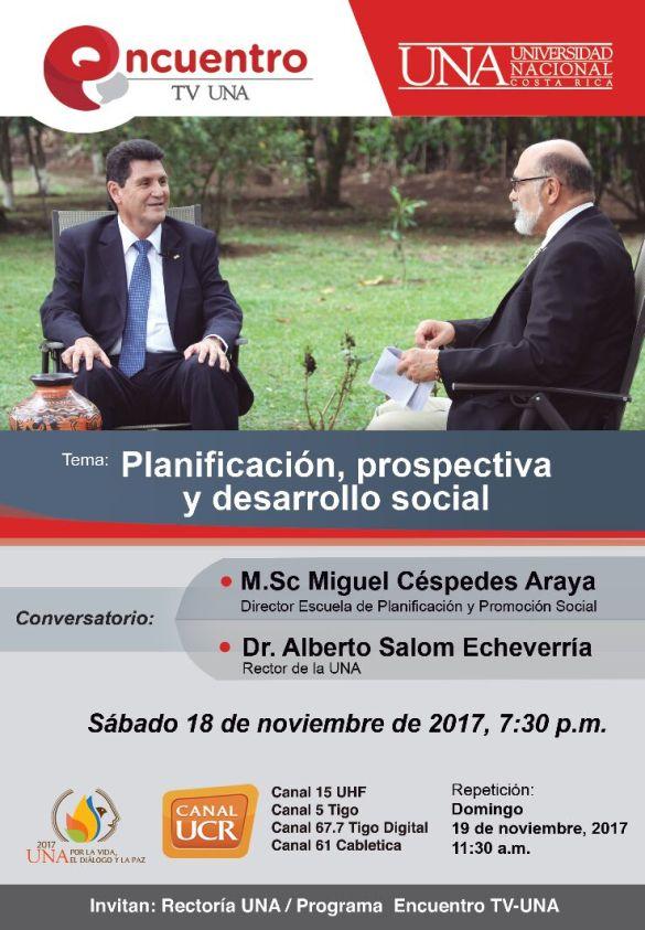 Conversatorio UNA Planificacion y prospectiva y desarrollo social