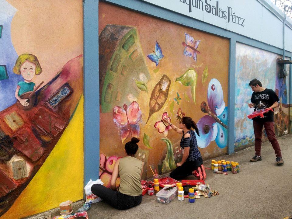 UCR Ramonenses celebran la poesía con murales por todo el canton4