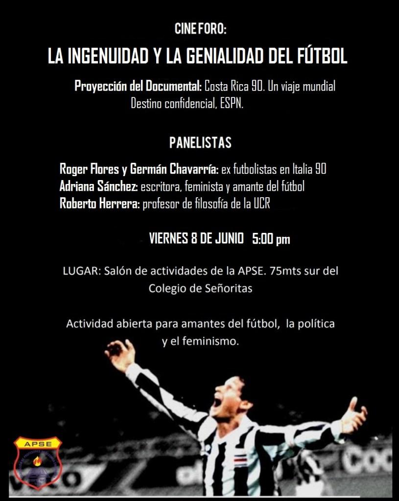 Cine foro La ingenuidad y la genialidad del futbol