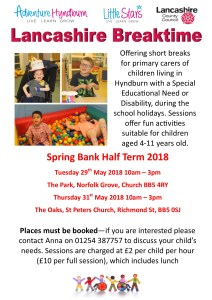 May Half Term 2018 Breaktime Poster 2