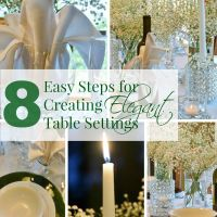8 Easy Steps for Creating Elegant Table Settings