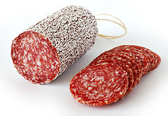Salami Paleo food for storage