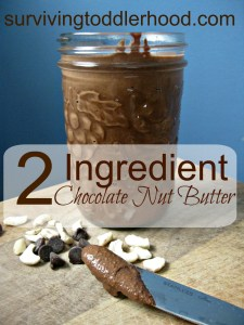 Homemade Chocolate Nut Butter~ Only 2 Ingredients!!!