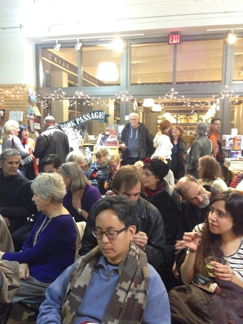 West Coast launch, Book Passage, San Francisco. December, 2015. This is a great little independent bookstore in San Francisco's Ferry Building.
