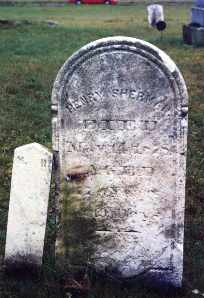 Henry Sherman, Elizabeth (Thrash) Sherman Gravestones (3/4)