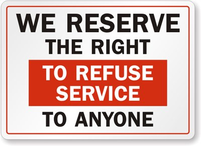What if they refuse service to your child?