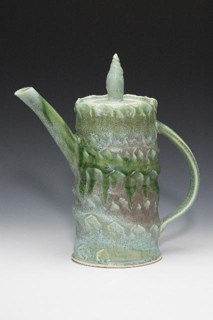 Handbuilt porcelain teapot. Sold