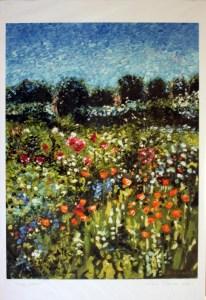 Poppy Garden, giclee print front