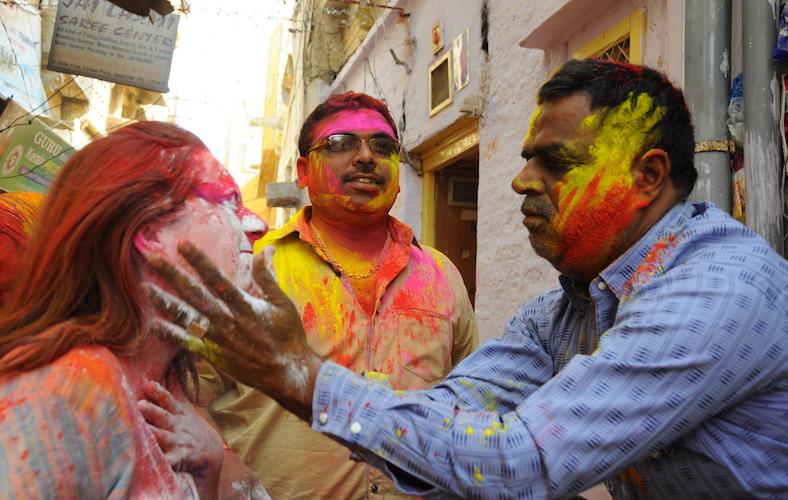 Holi festival con matrimonio indiano 06