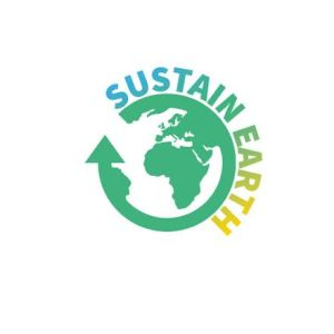 "LOGO of ""sustain-earth.com"" has three colours. Main colour of ""earth"" is green a product of  ""blue"" for  clean water and ""yellow"" for clean energy."