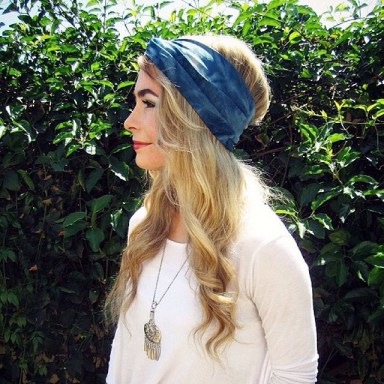 barefoot belle head wrap sky turban ethical fashion eco brans sustainable daisy fashion blogger