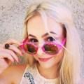 sustainable daisy pink sunglasses