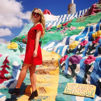 little red dress salvation mountain thrift store