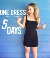 fashion revolution one dress 5 days week same outfit lookbook capsule wardrobe sustainable fashion ways five