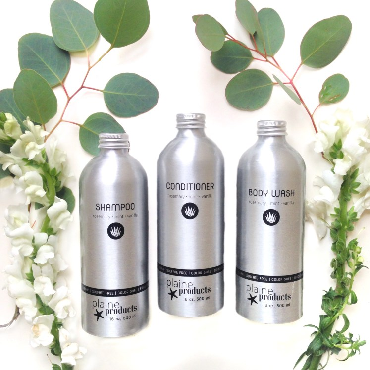 zero waste shampoo zerowaste plaine products subscription all natural single use plastic aluminum reusable refillable refill