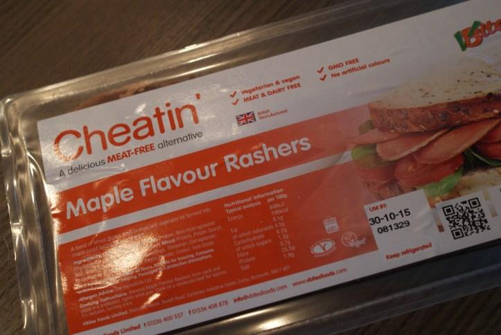 Cheatin' Maple Flavoured vegan bacon