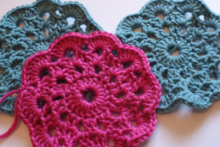 Crocheted coasters for homemade Christmas gifts