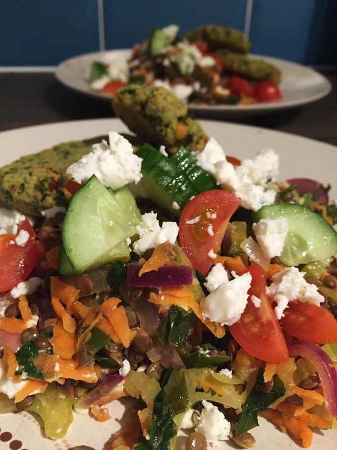 Warm Puy Lentil Salad