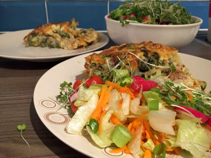 Homity Pie with 80s style salad | Susty meals | Sarah Irving