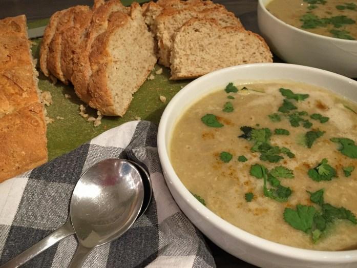 Cream of Curry Mushroom Soup | Susty Meals | Sarah Irving