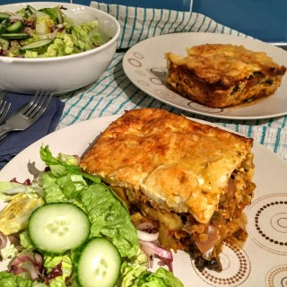Lentil and Vegetable Moussaka | Vegetarian Recipes | Susty Meals | Sarah Irving