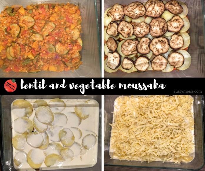 Lentil and Vegetable Moussaka | Vegetarian Recipes | Susty Meals | Sarah Irving