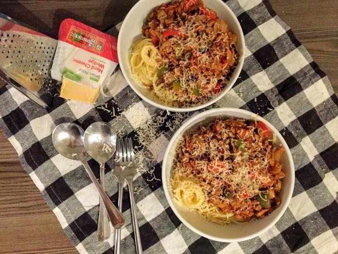 Chunky Veggie Spaghetti Bolognese | Vegetarian Recipes | Vegetarian Pasta | Susty Meals | Sarah Irving | Manchester Food Blogger