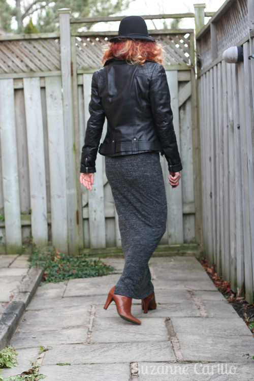 how to wear a maxi pencil skirt in winter