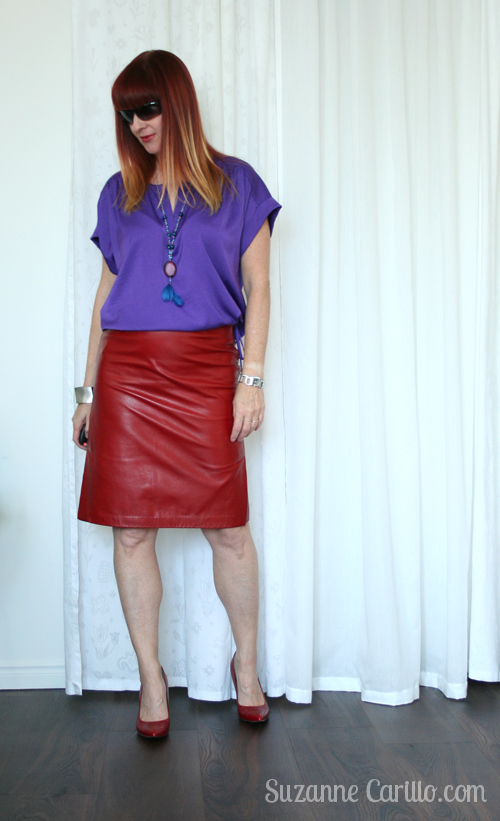 Red and purple outfit i 39 m too ocd for chaos suzanne - Purple and red go together ...