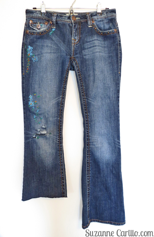 DIY Embroidered Jeans - Suzanne Carillo