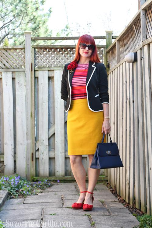 how to wear colour over 40 suzanne carillo
