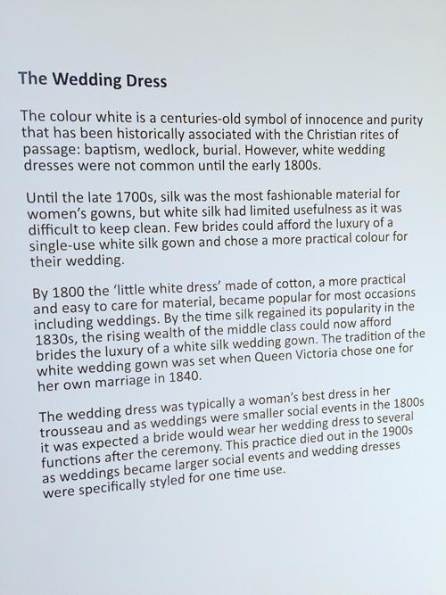 history of the wedding dress cambridge fashion history museum