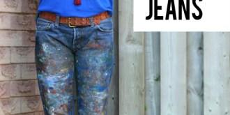 Easy DIY Paint Splatter Jeans