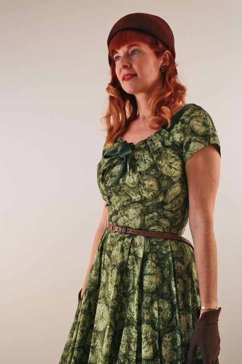 Vintage 1940's green dress