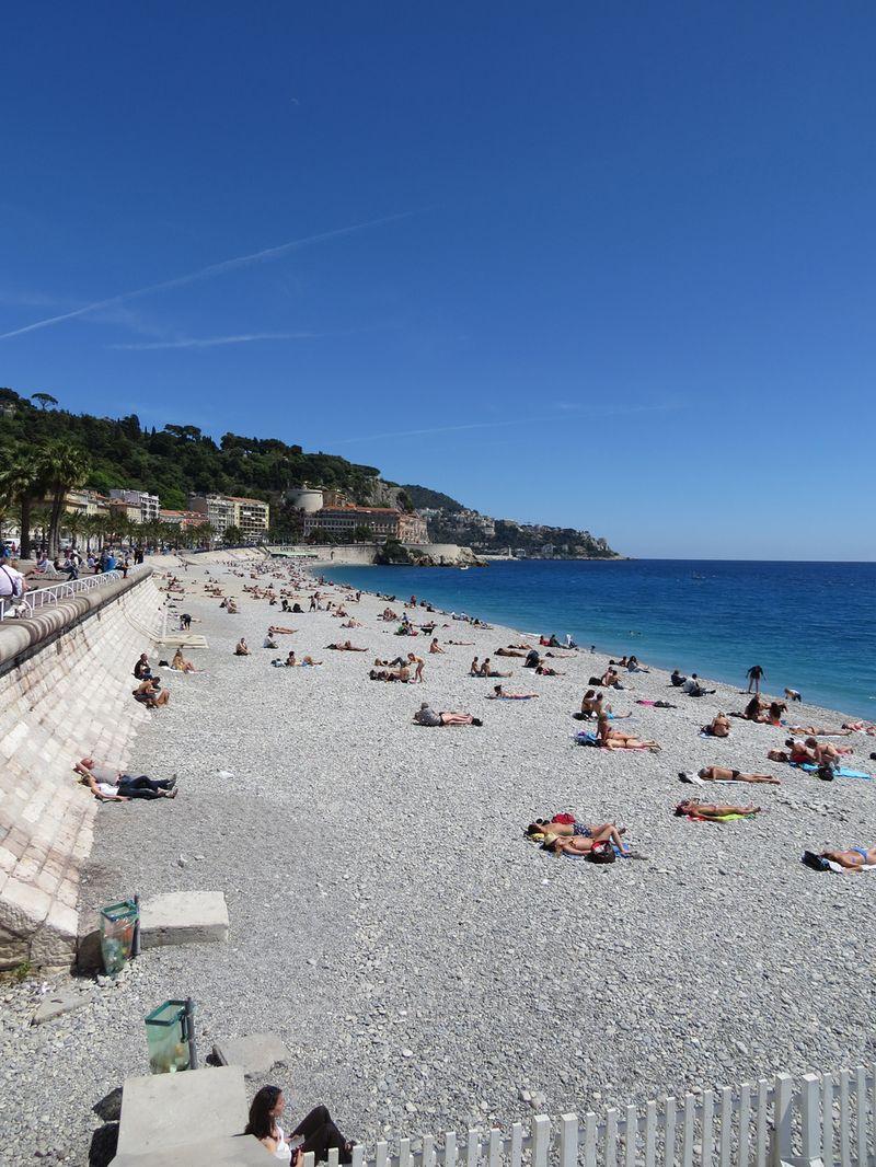 Rocky beach nice france