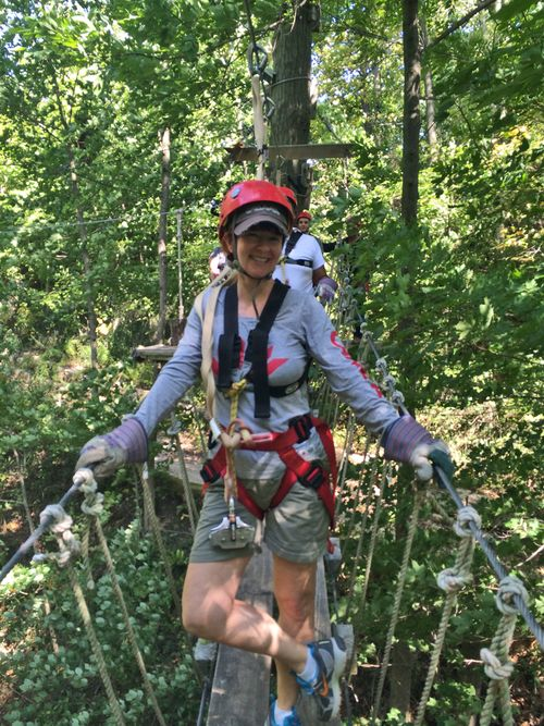 Zip lining Ontario Suzanne carillo tree canopy tour zip lining long point eco adventures