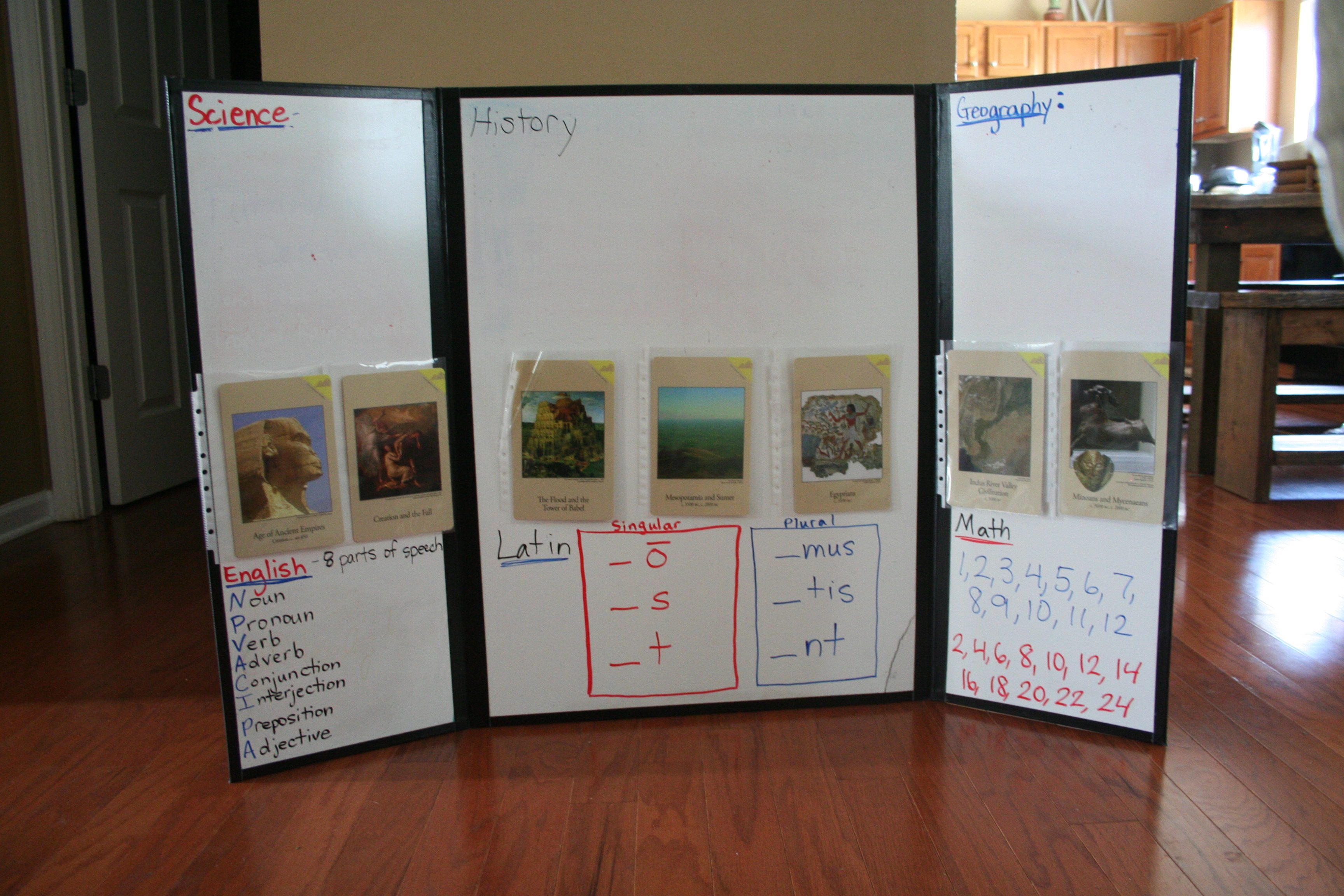 Tri Fold Display Board Design Ideas make a reusable tri fold display board I Could Not Not Not Have Made It Through My First Year As A Classical Conversations Tutor Last Year Without My Tri Fold Dry Erase Board