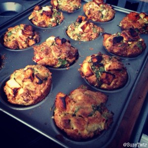 Savoury muffins, two ways