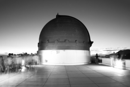 Griffith Observatory, west deck at night