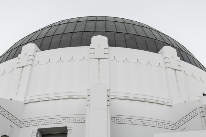 Griffith Observatory dome from below