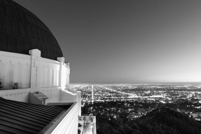 Griffith Observatory overlook at night
