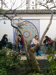 People on Patio at Paris Grand Mosque Tea Room